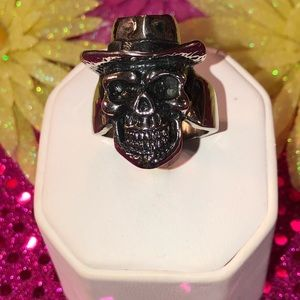 Large 316L Skull w/ Hat Ring